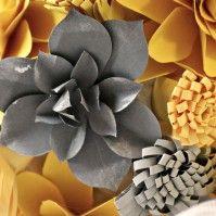 Pianta grassa in carta per un bouquet diverso dal solito