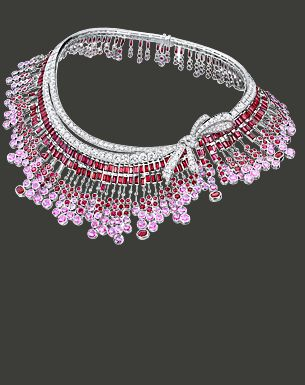 Breguet   Les Jardins du Petit Trianon  18-carat white gold pave´diamonds  (29,43 ct) with rubies  and pjnk sapphires  (139,09ct)
