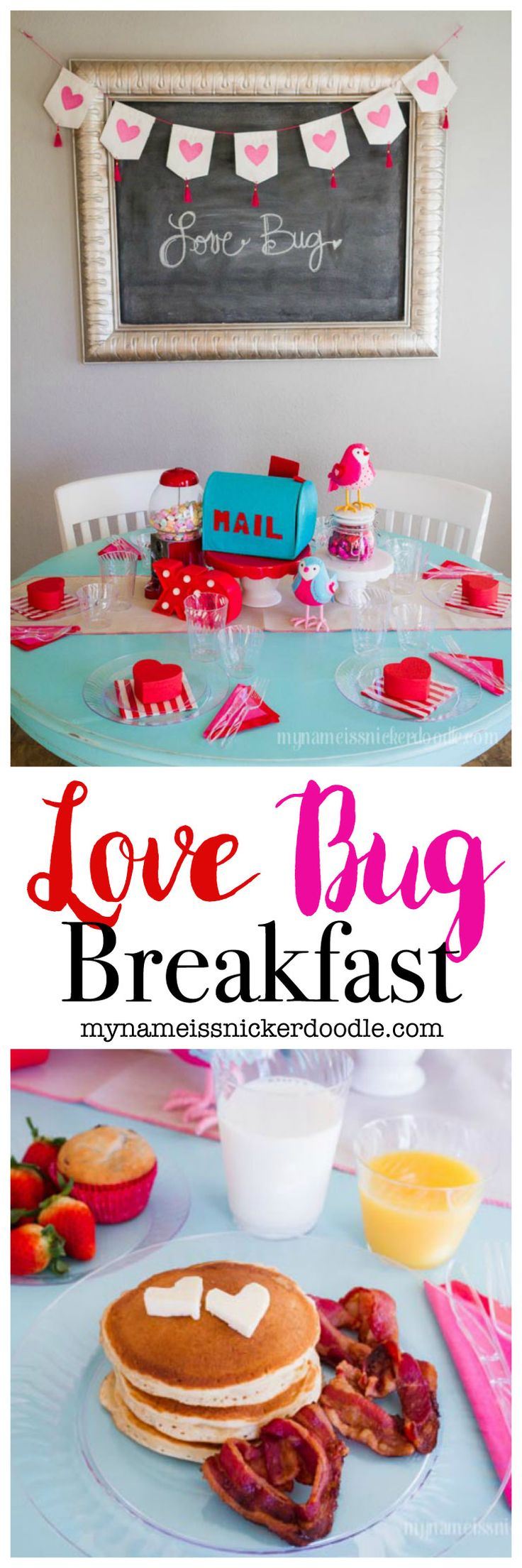 Celebrate Valentine's Day with this adorable Love Bug Breakfast for your family!  Such a fun tradition!  |  mynameissnickerdoodle.com