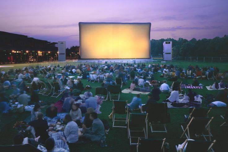 Cinéma en plein air at the Parc de La Vilette, films start at sundown and best of all..it's free!