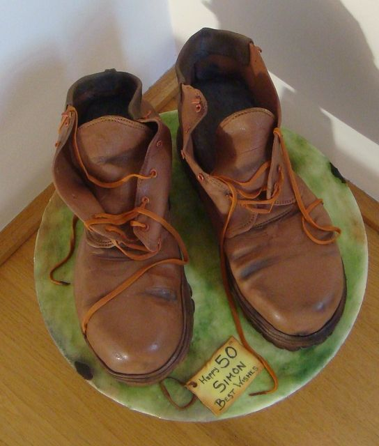 Tutorial - 3D Cakes #2: Making Simon's Mountaineering Boots - by FifiCakes @ CakesDecor.com - cake decorating website