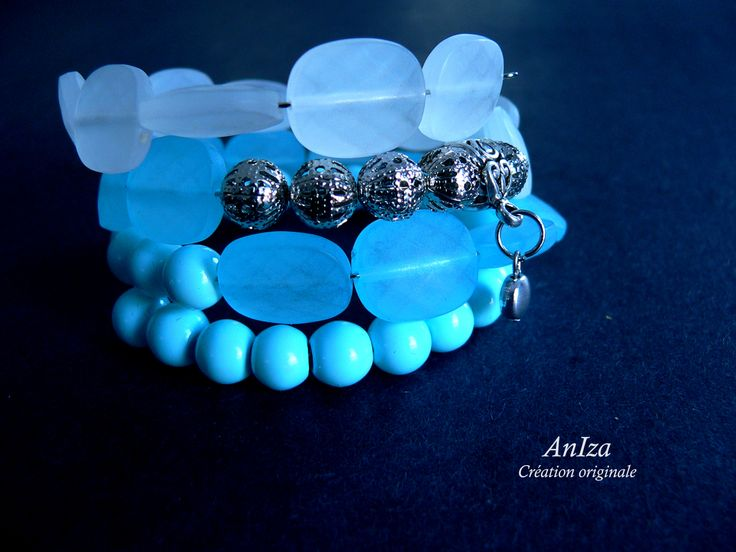 bracelet fil mémoire, fait par Annie