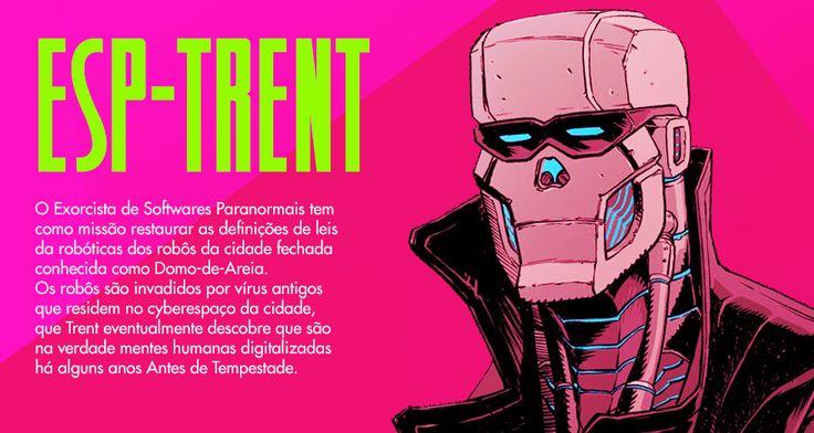 Quadrinhos de ficção científica em um mundo pós apocalíptico.