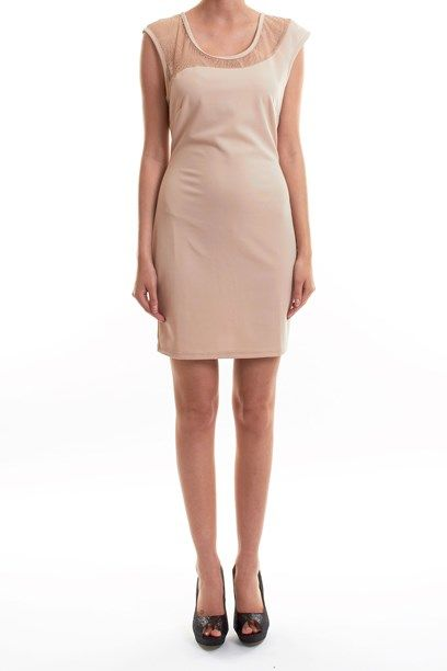 SPRING KJOLE - Asymmetric slim fit dress with top lace.
