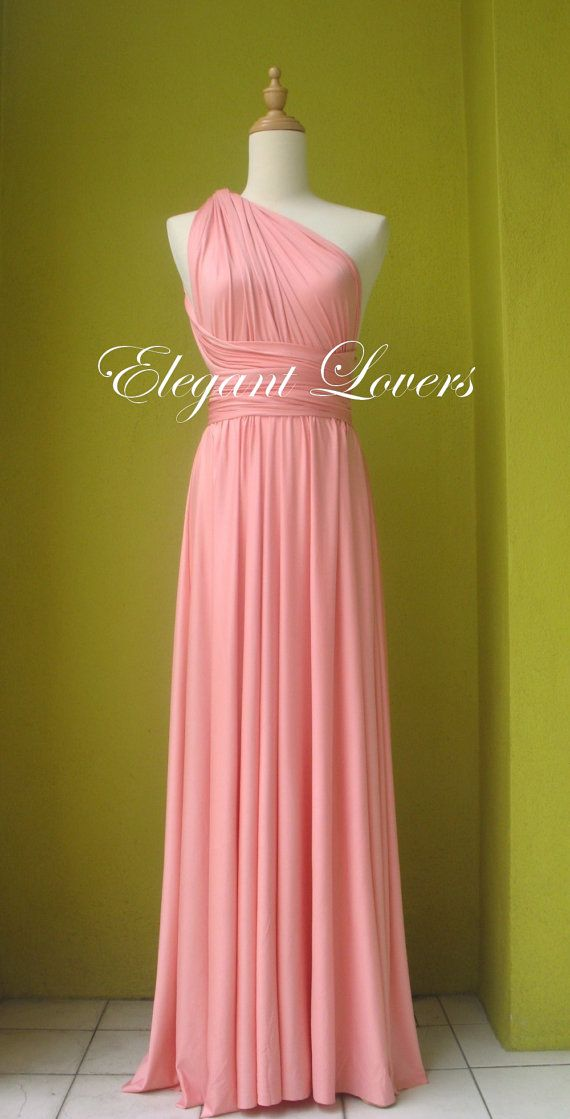 Bridesmaid Dress Baby Pink Wedding Infinity Wrap Formal ...