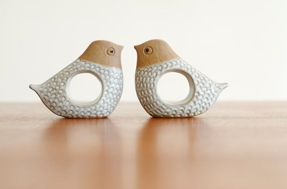 Vintage Set of 4 Scandinavian Style Mod Bird by HouseofSeance,