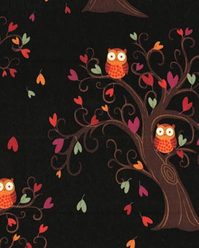 OWL BE THERE Tree Owls  Black by Kavas by spiceberrycottage, $9.50