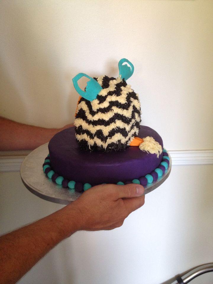 Back of furby cake