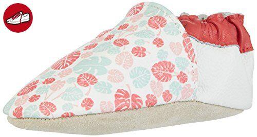 Rose & Chocolat Baby Mädchen Maui Leaf Print Lauflernschuhe, Mehrfarbig (Pink), 26/27 EU (*Partner-Link)