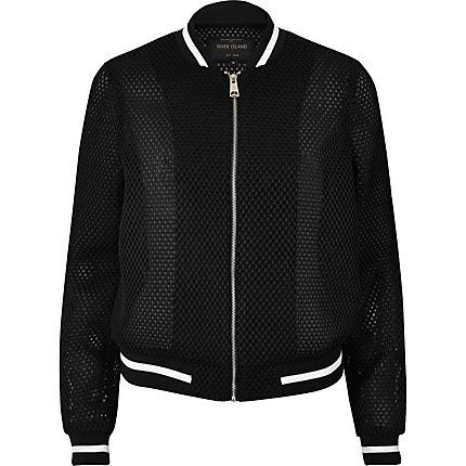 Black mesh bomber jacket £45.00