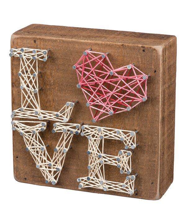 Look at this 'Love' Stacked Letters String Art Box Sign on #zulily today!