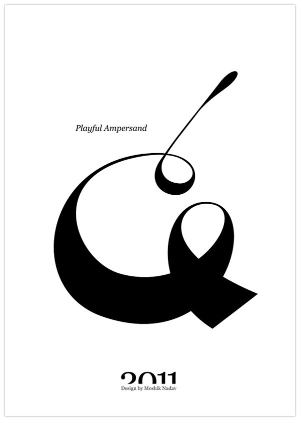 Playful Ampersand by Moshik Nadav Typography on Typography Served