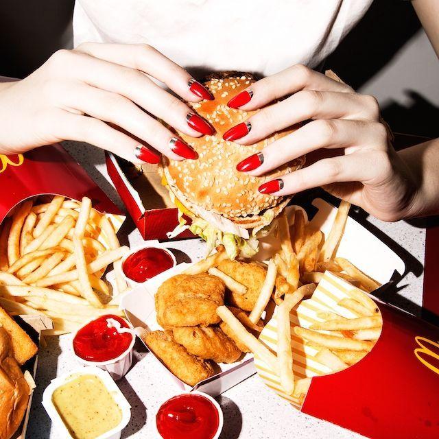 Glamorized Junk Food Editorials : greasy junk food