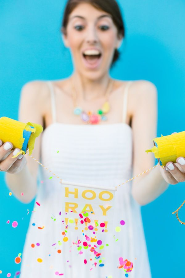 So this would be fun! :: DIY Surprise Message Confetti Poppers