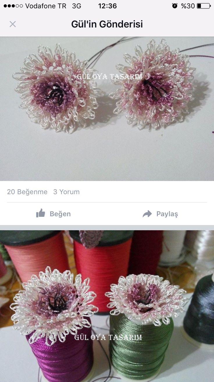 Çiçekli incili şal yapılışı (echo flover)