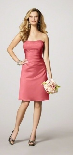 Alfred Angelo Style 7027S Bridesmaid Dress in Coral