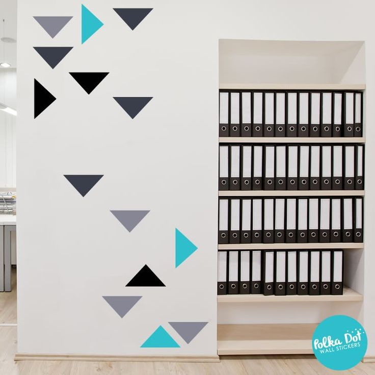 Wide Triangle Wall Decals