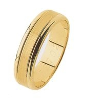 GENTS WEDDING RING, 6mm WIDE WITH BRUSE CENTRE SECTION AND POLISHED OUTSIDES