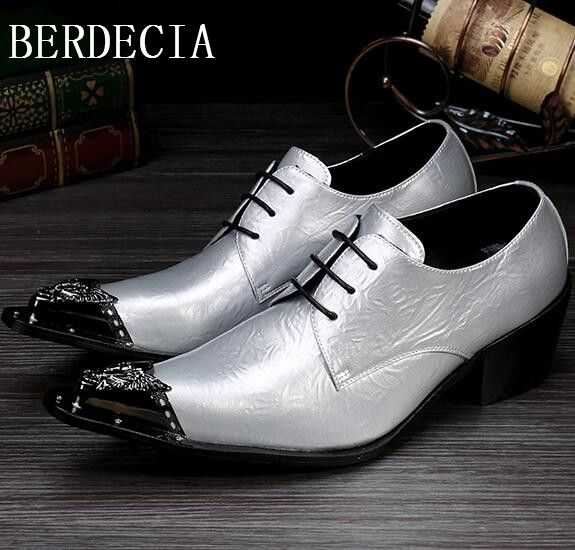 89.83$  Buy now - http://alibe1.shopchina.info/go.php?t=32791249784 - BERDECIA Men Shoes in Business Oxford Spring 2017 Genuine Leather Male Formal Shoes Men Silver Dress Shoes 89.83$ #buyonlinewebsite