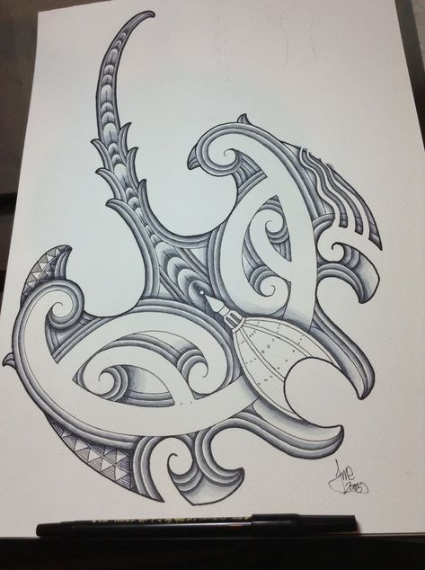 Ta moko #stingray design by Jayme-Watene   Tribal stingray