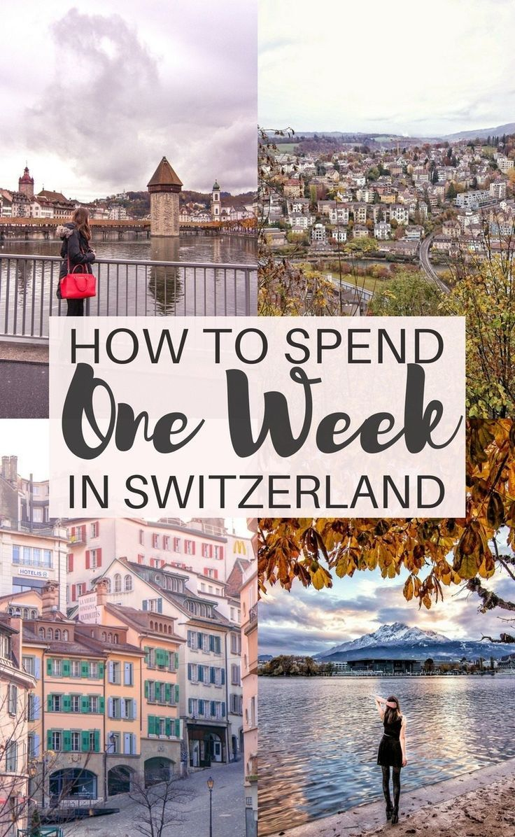 One Week in Switzerland Itinerary: Your Ultimate 7 Day Guide to travelling through Europe's Switzerland. Highlights are Lausanne, Lucerne, Zurich, etc.