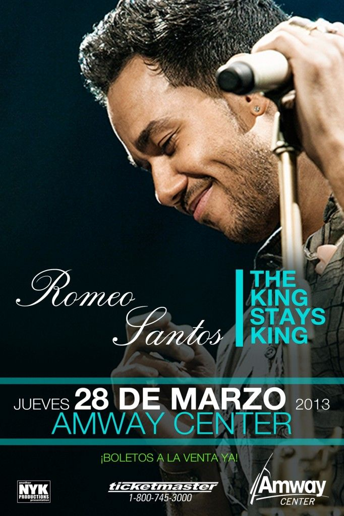 THIS CONTEST HAS ENDED. Espresso con Leche blog giving away tickets to see Romeo Santos at Amway Center.