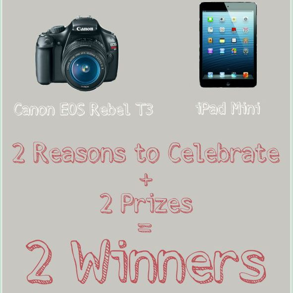 Canon Rebel Camera & iPad Mini Giveaway - Cupcakes & Kale Chips