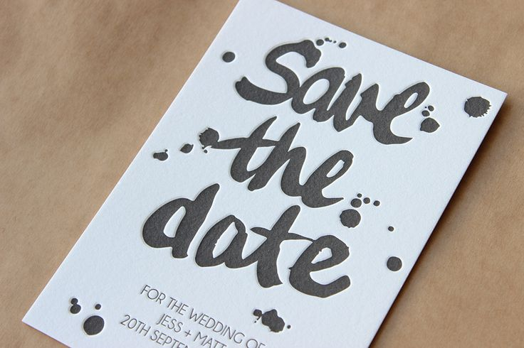 Loving these save the dates I just finished printing!! - The Letterpress Studio