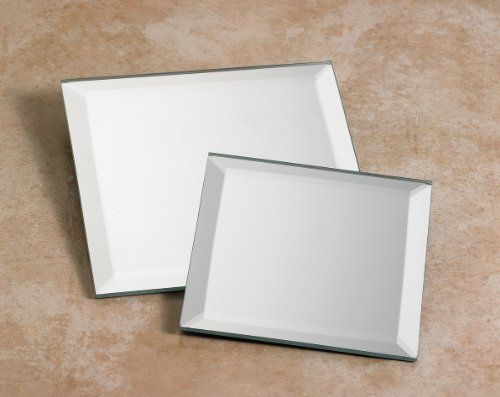 Biedermann Amp Sons Decorative Beveled Square Mirror Plate