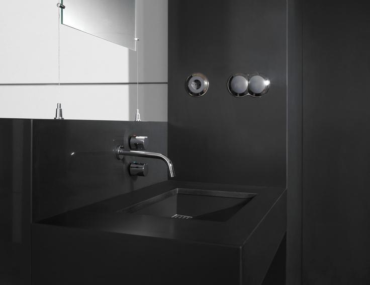 pared  u0026 lavabo simplicity silestone  color negro tao  acabado suede