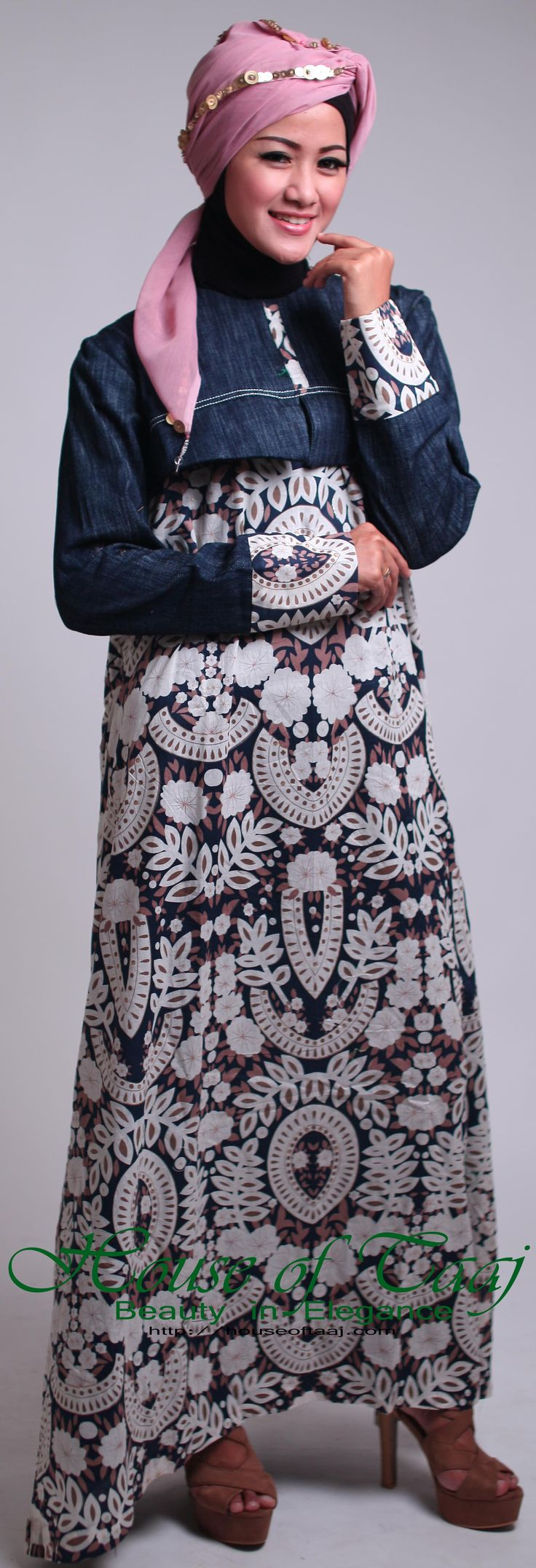 Abaya Gamis Katun untuk Ibu Hamil