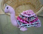 Yo Yo Turtle  fabric quilt nursery toy decor