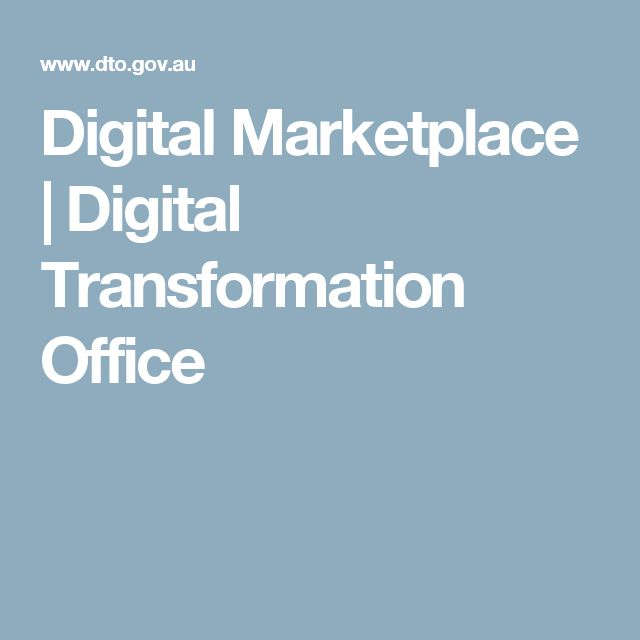 Digital Marketplace | Digital Transformation Office