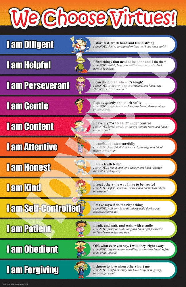 We Choose Virtues...it is not just about what you ARE it is also about what you are NOT. I really like this