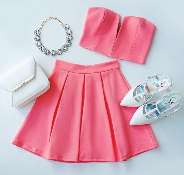 I like the skirt and shoes but not the top