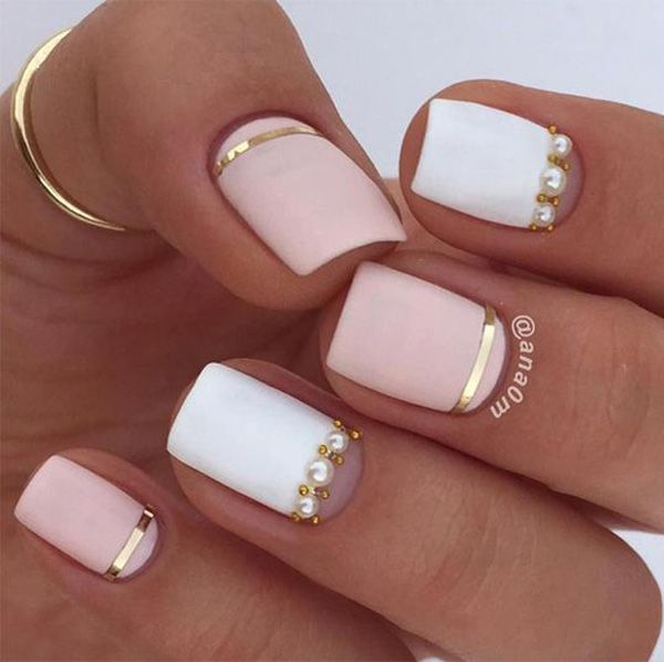 45 chic classy nail designs matte nail designs ideasgel - Gel Nail Designs Ideas