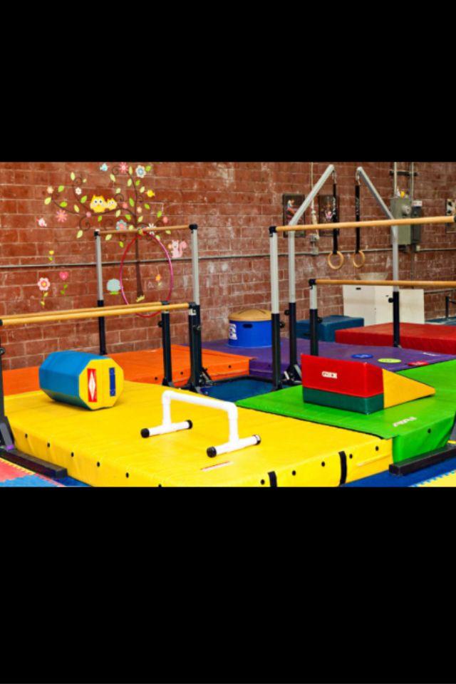 my basement gymnastics room at my dream house