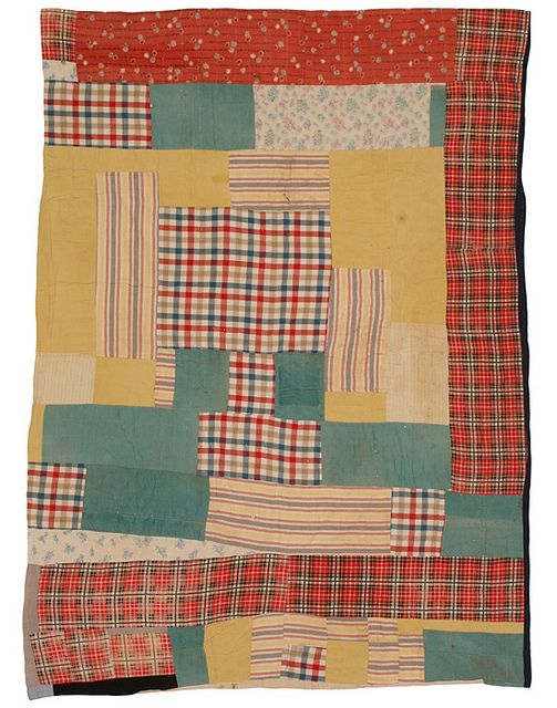 Pig Pen (also called Housetop or Log Cabin) Quilt, 1945-1955 by The Henry Ford, via Flickr