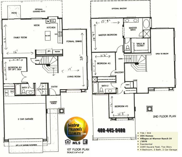 House floor plans 2 story 4 bedroom 3 bath plush home for Four bedroom single story house plans