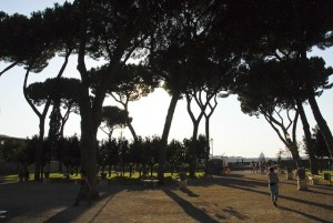 Parco Savello, Aventine Hill, Rome; form a post about the savanna hypothesis in the environmental psychology