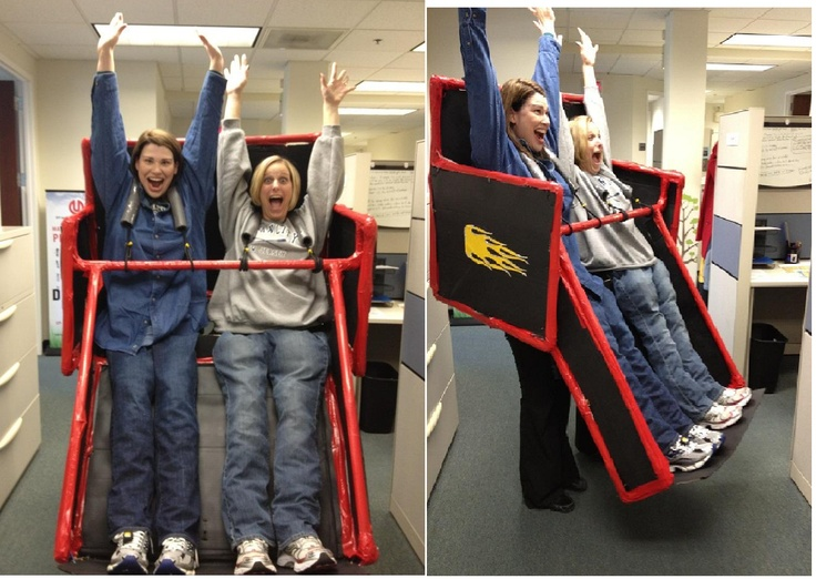 Homemade Roller Coaster Costume! I made it over the course of two months on weekends.  We had so much fun!
