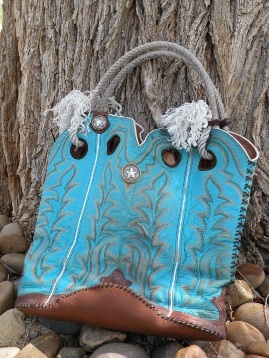 This lady makes the most amazing purses I've ever seen, from old Cowboy boots!  The wear creates character!