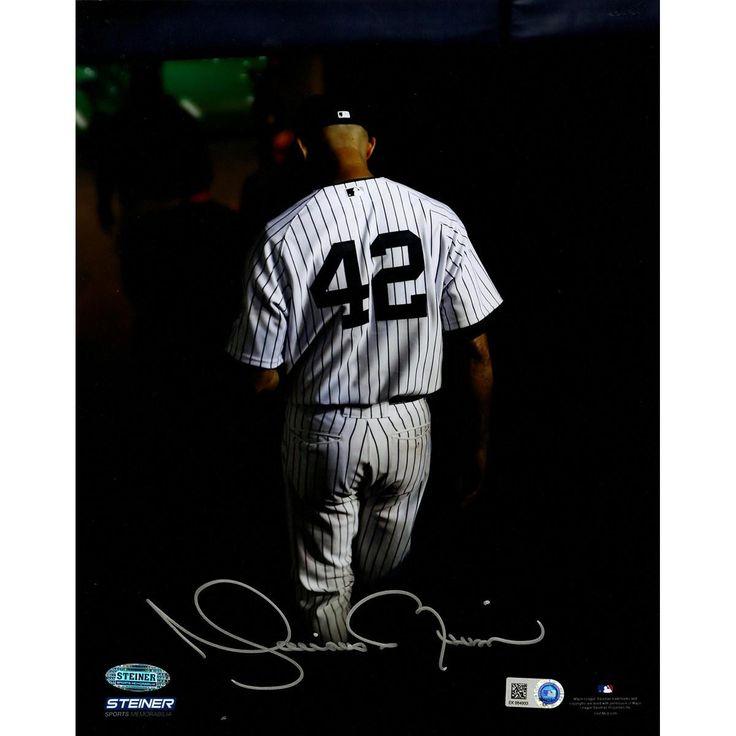 Mariano Rivera Final Exit At Yankee Stadium Signed 8x10 Photo (MLB Auth)