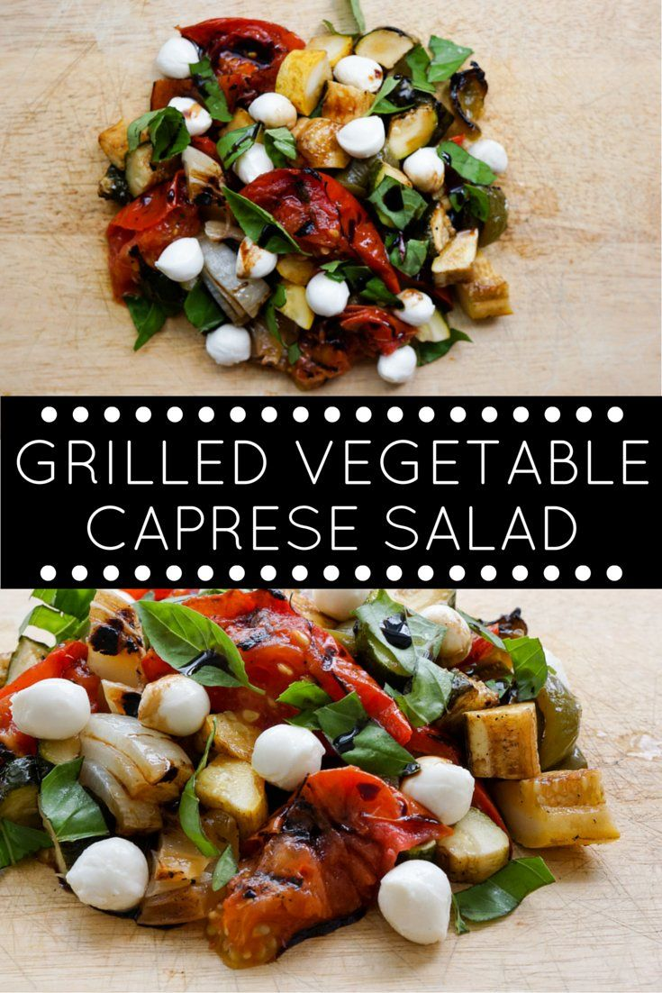 Grilled Vegetable Caprese Salad - Slender Kitchen. Works for Gluten Free, Low Carb, Vegetarian and Weight Watchers® diets. 202 Calories.