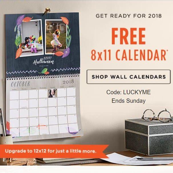 Shutterfly Free Calendar 2022.Shutterfly Promo Code Free 8x11 Wall Calendar 24 99 Value Shutterfly Promo Codes Wall Calendar Shutterfly Promo