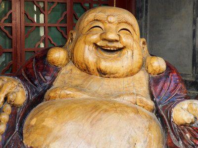 Laughing Buddha, Tanzhe Temple, Beijing, China