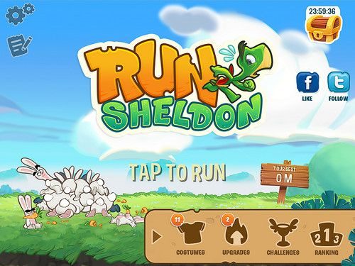 Run Sheldon Main Menu: screenshots, UI