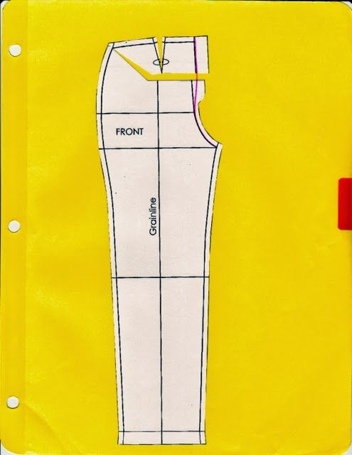 Pants alteration for full tummy, large calf, and other fitting modifications. Photo tutorial. Written by pattern cutting patternmaking student. 1/14sc