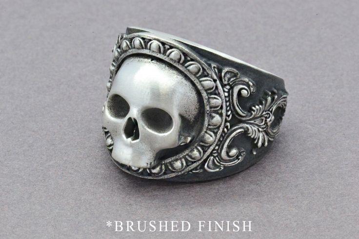 The Reaper Ring, Skull Ring, Sterling Silver Ring, Men's Skull Ring, Men's Statement Ring, Gothic Ring, Pirate Skull Ring, Statement Ring by SuttonSmithworks on Etsy https://www.etsy.com/ca/listing/280182846/the-reaper-ring-skull-ring-sterling