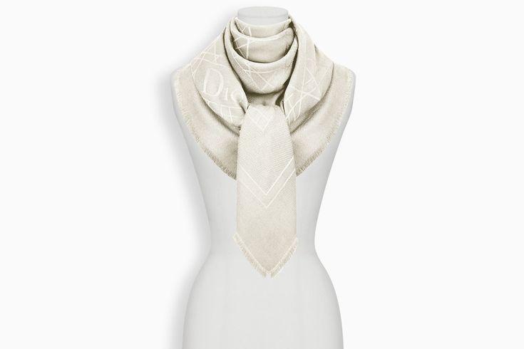Dior Cannage Stole 140 x 140 cm ($500)